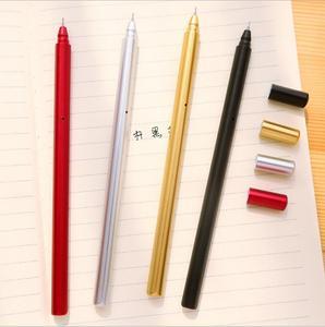 Image 3 - Jonvon Satone 50 шт., креативная гелевая ручка с металлической ручкой, ручки для письма, канцелярские принадлежности, Canetas Material Escolar, канцелярские принадлежности