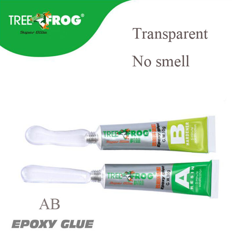 Tree Frog high quality epoxy resin AB glue transparent strong plastic metal mold glue 20g high viscosity universal glue in Liquid Glue from Office School Supplies