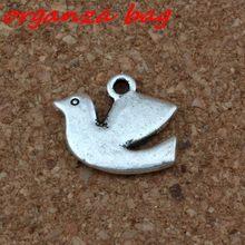 Подвески в виде птицы голубя мира сплав подвески 30 шт/лот 17x135