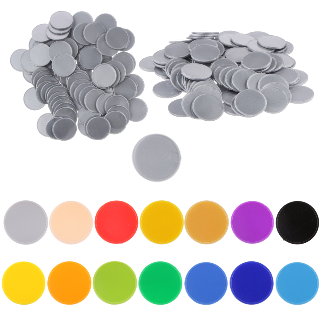 High Quality 100x 25MM Plastic Poker Chips Casino Bingo Markers Token Fun Family Club Game Toy Creative Gift Supply Accessories