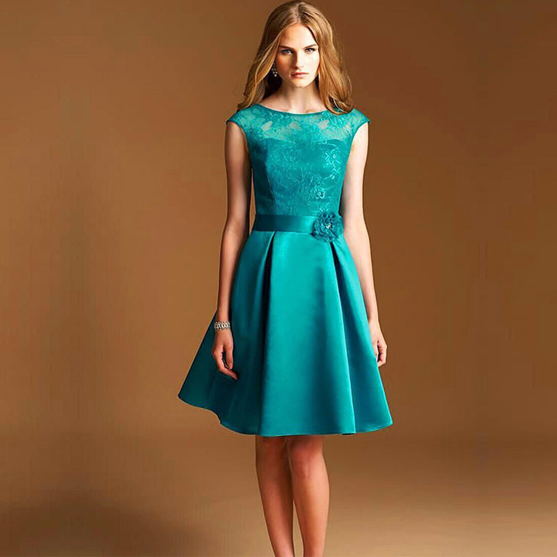 High quality short purple purple turquoise for Aqua blue dress for wedding