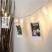 24 LED led 3xAA pil Kartı Fotoğraf klip dize ışıkları Noel ışıkları yeni yıl parti düğün ev dekorasyon peri işıklar
