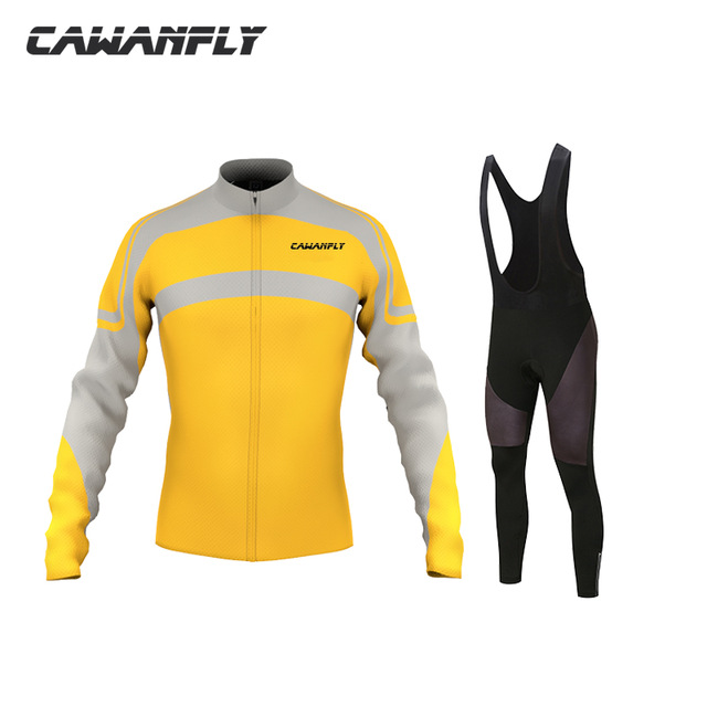 CAWANFLY NEW Men Long Sleeve Bicycling Clothing for Spring Autumn Bicicleta mtb Riding Clothing Cycling Jersey Pants Set