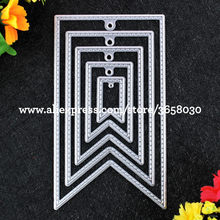 5pcs Label Tag Flag Metal Die cutting Dies For DIY Scrapbooking Photo Album Embossing Folder 8072626(China)