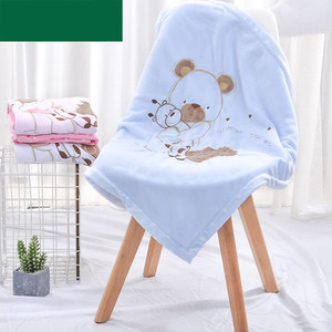 Image 2 - Baby Blankets Newborn Bebes Swaddling Wrap Quilts Funny Cartoon Winter Warm Toddler Infant Stroller Bedding Linen Covers 75*75cm