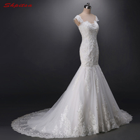 Lace Mermaid Wedding Dress Beaded Tulle Weding China Bridal Wedding Gowns Weddingdress robe de mariee