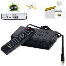 Novatek 78304 1G 8 M DDR HD DVB-S2 + IPTV Combo Digital Receptor FTA IKS TV CAJA de Grabación PVR Cccam BISS Key + USB Wifi