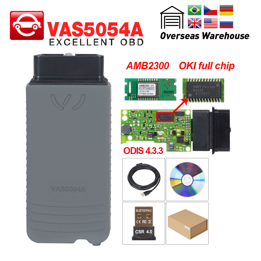Automobiles & Motorcycles Car Repair Tools Vas5054a Odis V4.3.3 Keygen Vas 5054a Oki Full Chip Obd2 Scanner Auto Code Reader Vas5054 Bluetooth Obd Ii Diagnostic Tool
