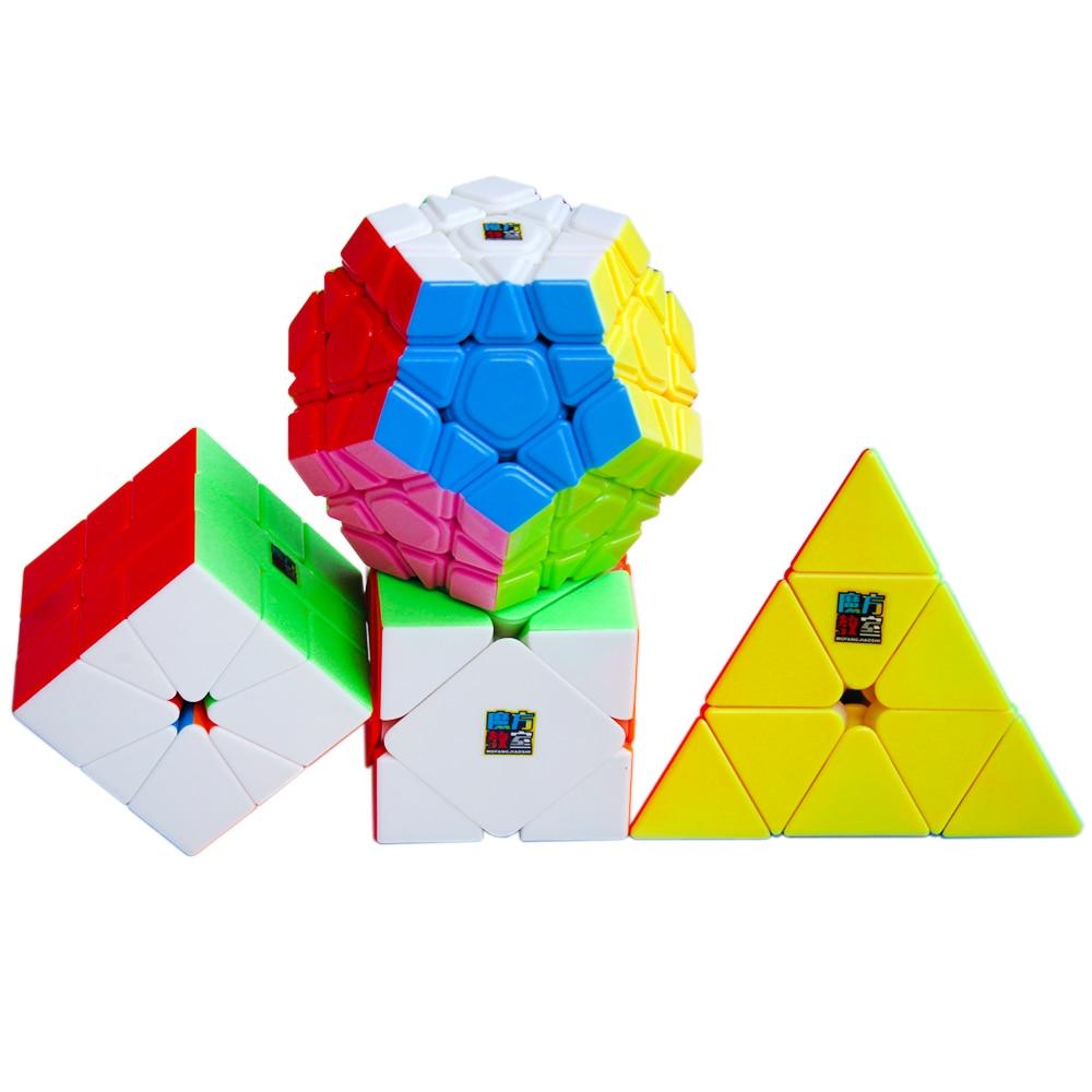 4pcs/Set Moyu's Cubes Triangle 3*3*3 Megaminx 3x3x3x3x3 Skew Sq1 Classroom Games And Puzzles Magic Cube Toys For Children