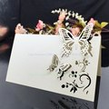 2016 Wedding Supplies 50pcs/pack Pierced Laser Cut Butterfly Wedding Party Table Name Place Cards Wedding Invitations 5Z-CD034