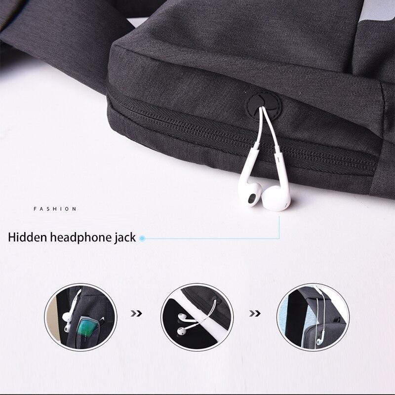 WIWU Crossbody Bags for Men Messenger Chest Bag 8
