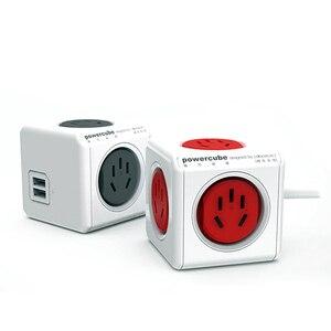 Image 4 - Allocacoc Original Smart Home Electronic Plug powercube Power Strip Socket Charging USB 4 Sockets Interface Extension Australia