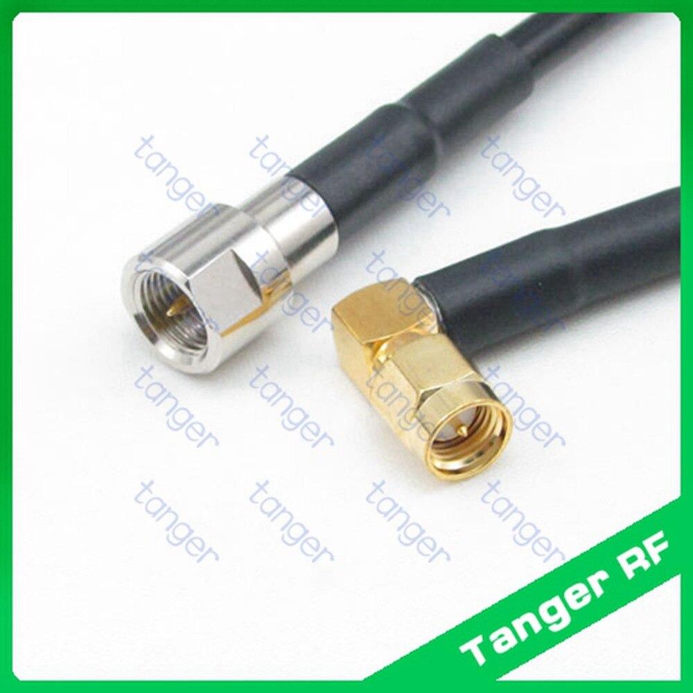 Vente chaude Tanger FME fiche mâle à SMA fiche mâle droite angle RF RG58  Pigtail Jumper Câble Coaxial 40 pouces 100 cm Haute Qualité aab043871051