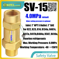 The valves are standard type, unbalanced, direct loaded safety valves for protection against excessive pressure in cascade units