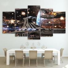 Printed HD Modular Posters Modern 5 Panel Star Wars Printing  Wall Art Canvas Picture