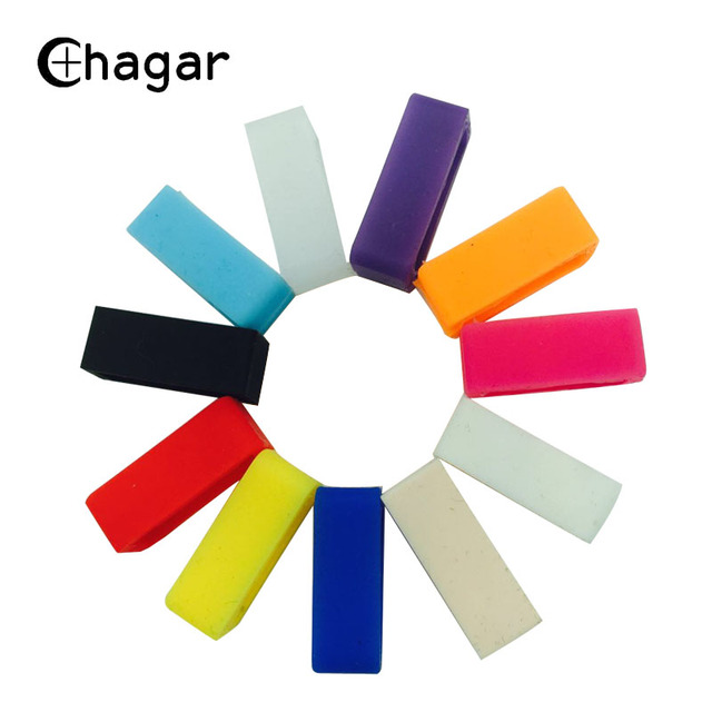4pcs Silicone Rubber Watchbands Loop ring watch strap Mutil-color Holder Locker