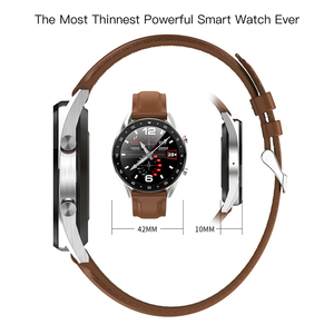 Image 4 - Microwear L7 スマートウォッチフィットネスブレスレットIP68 防水トラッカー腕時計ecg心拍数モニターコールリマインダスマートウォッチの男性
