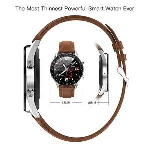 Image 4 - Microwear L7 Smartwatch Fitness Bracelet IP68 Waterproof Tracker Wristwatch ECG Heart Rate Monitor Call Reminder Smart Watch Men