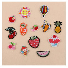 1PC Patches For Clothing Banana/Watermelon/Cherry/Strawberry/Carrot/Hot air balloon Patches For Apparel Bags DIY Accessories