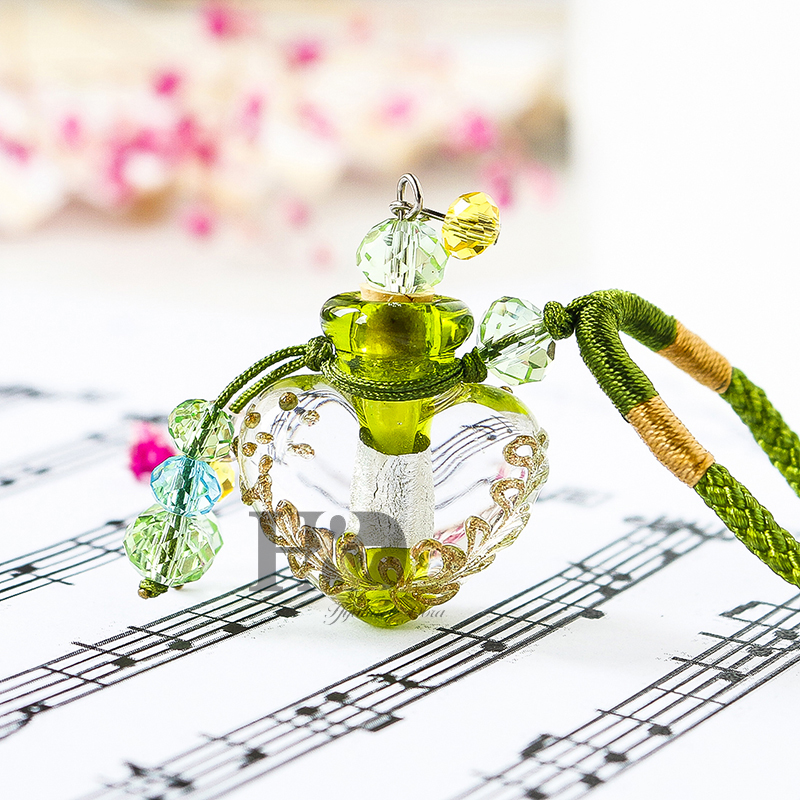 H&D 1PC Crystal Heart-shape Bottle Pendant Vial Necklace Perfume Essential Oil Diffuser Handmade Spical Pendant Gift  (Green) дезодорант hongkong 2015 100 d perfume d
