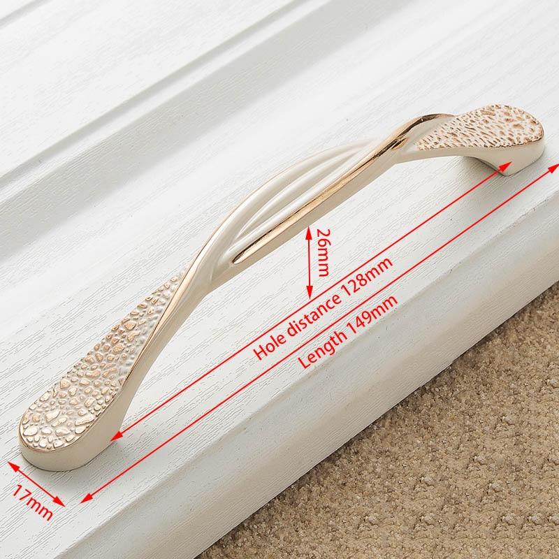 KAK цинк Aolly цвета слоновой кости ручки для шкафа кухонный шкаф дверные ручки для выдвижных ящиков Европейская мода оборудование для обработки мебели - Цвет: Handle-8821-128