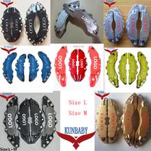 Sale KUNBABY 4 Pcs 8 Colors ABS Plastic Car Auto 3D Word Style Disc Brake Caliper Covers Front And Rear Size M+L