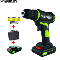 21V Lithium Battery 2 Torque Electric Drill Bit Cordless Electric Screwdriver Professional Toolbox 12 Gift