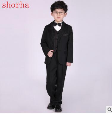 5b1c449e9d74d Mode garçons costumes mariages enfants costumes de bal noir costumes de mariage  garçons Tuexdo grands enfants