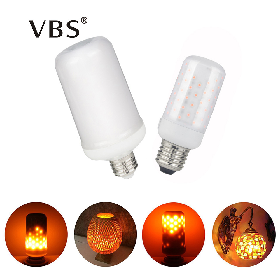 Newest E27 E14 LED Flame Effect Fire Light Bulbs 5W 7W Indoor Lighting Decorations LED Lamp Christmas Fire Color AC85-265V