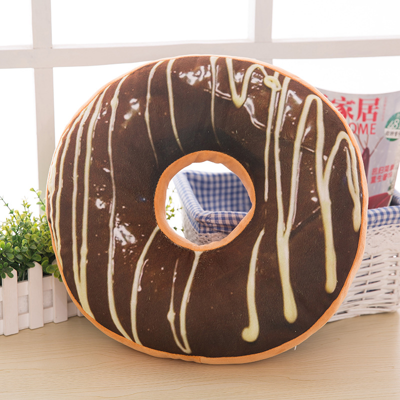 Chocolates Donut Pillow Cushion Christmas Donuts Decorative Pillow Sofa Seat Decor Xmas Kids Cushions Case No Filling in Cushion from Home Garden