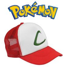 Adjustable Cosplay Anime Pokemon Pocket Monster Pikachu Ash hat Snapback Baseball Cap Free Shipping