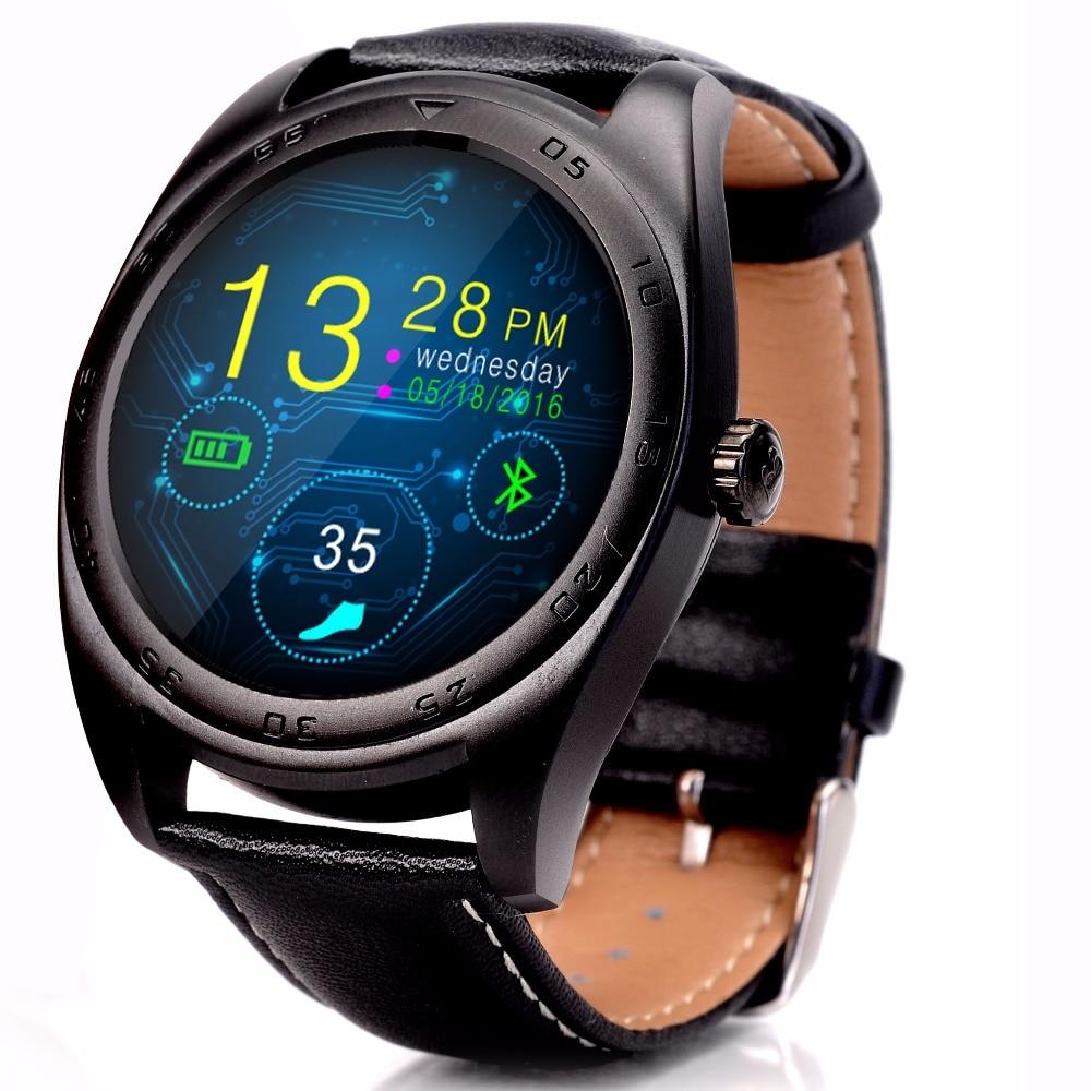 K89 Смарт-часы из металла MTK2502C монитор сердечного ритма для Android IOS Bluetooth Smart часы Классический здоровья из металла Smartwatch