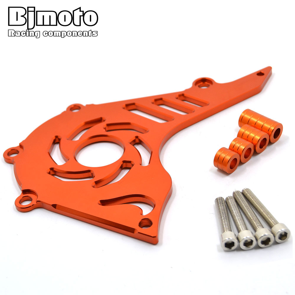 BJMOTO Motorcycle  CNC Front Sprocket Cover Engine Chain Guard Case Protection for KTM DUKE 200 Motorbike bjmoto cnc aluminum motorbike accessaries motorcycle engine guard cover pad for kawasaki z1000 r 2010 2011 2012