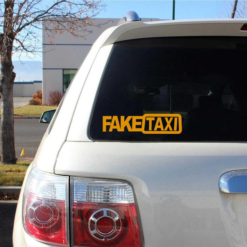 1 個偽タクシー車のステッカーデカールエンブレム自己粘着ビニールステッカー車の車のスタイリング