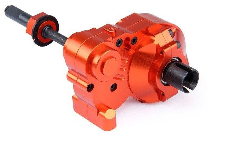 Cnc alliage métal trois Sections de fission complète diff gear box set fit HPI KM ROVAN Baja 5B 5 T 5SC roi moteur camion 85242