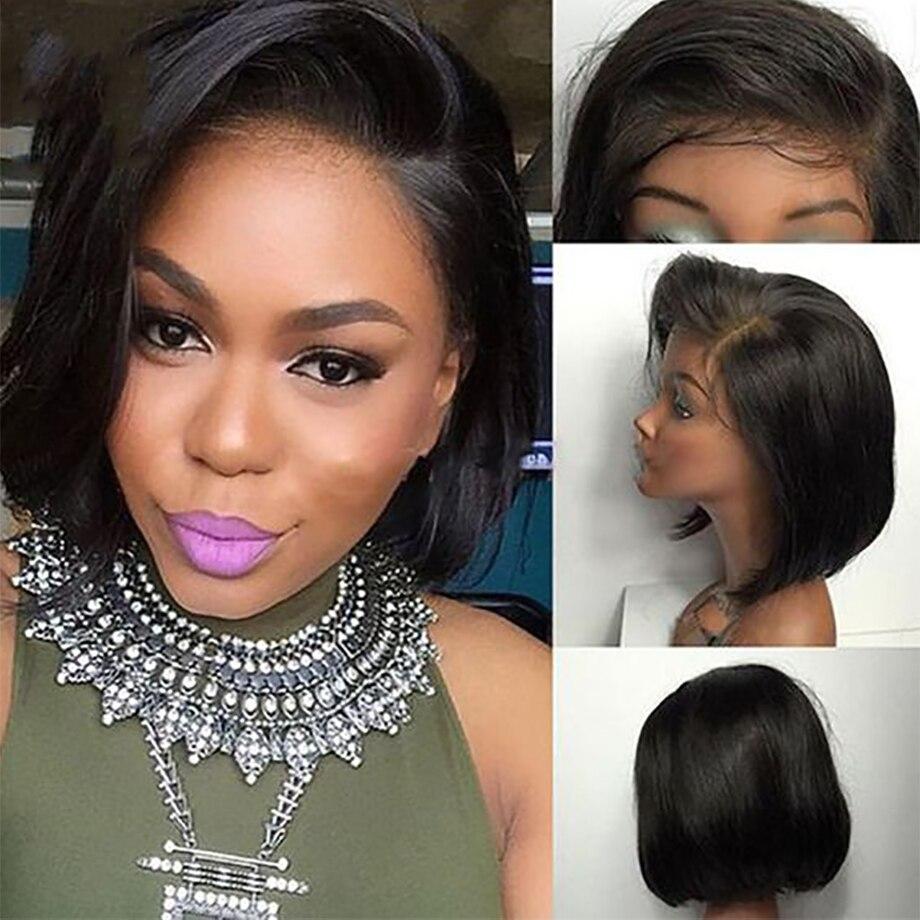 Brazilian Short Lace Front Human Hair Wigs Natural Color Blonde 613 - HairnergyBeauty
