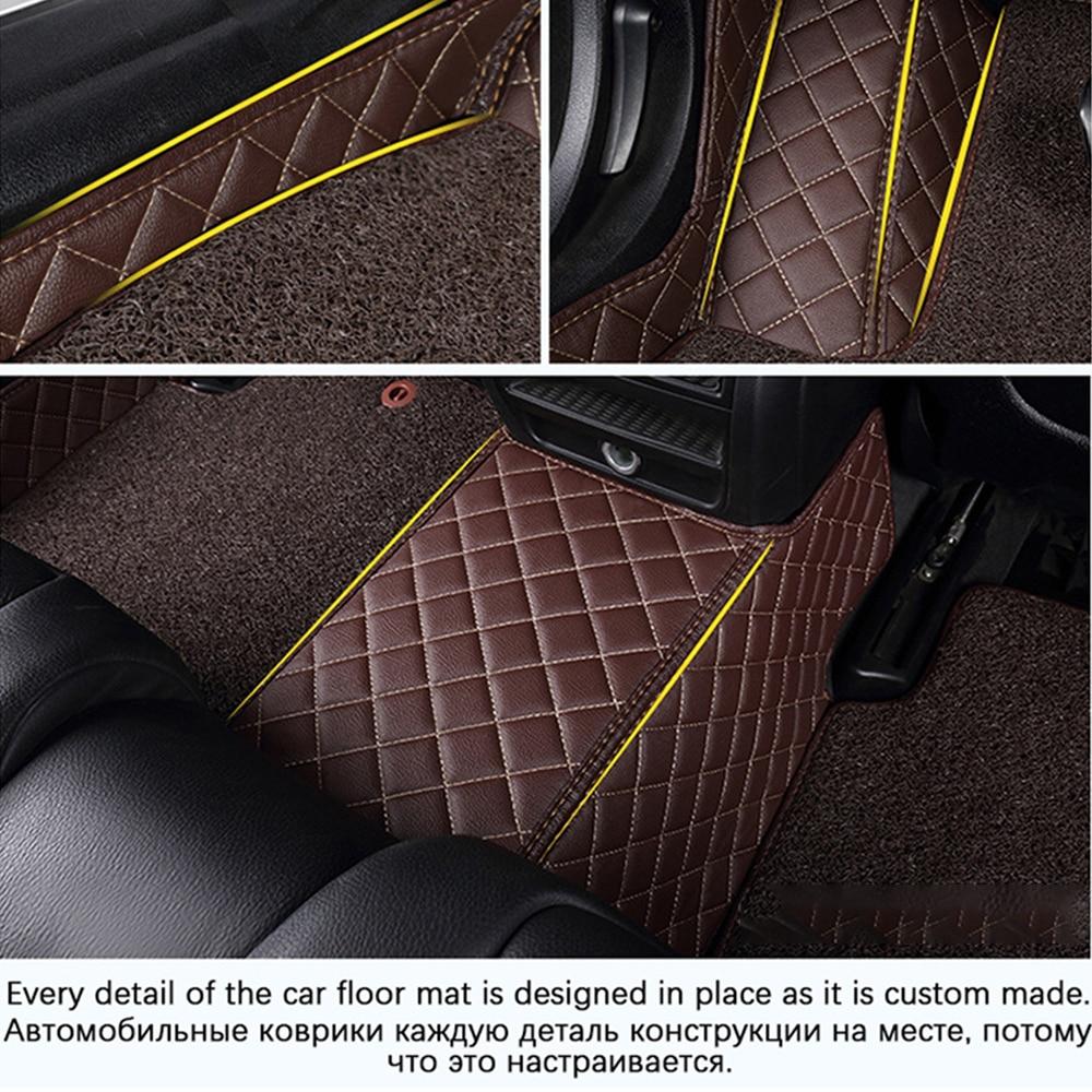 Купить с кэшбэком Custom Car Leather Floor Mats for BMW All Models 335i 335i GT xDrive 335i xDrive 335is 335xi 428i Luxury Surround Wire Floor Mat