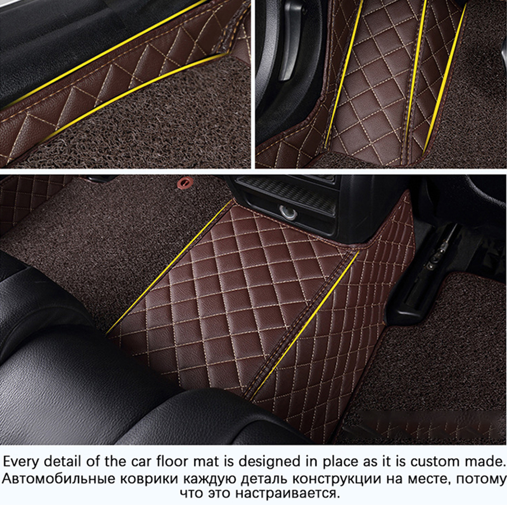 Image 3 - Custom Car Leather Floor Mats for BMW All Models 330Ci 330xi 335d 335i 335i GT xDrive 335i xDrive Luxury Surround Wire Floor Mat-in Floor Mats from Automobiles & Motorcycles
