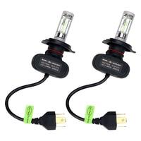 ITimo 1 Pair LED Car Headlight Head Lamp H4 HB2 9003 Auto Daytime Running Light Car