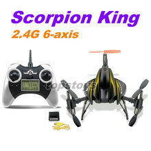 "Wholesale sanhuan SH6047B 4ch funny 6-axis wireless remote control rc aircraft ""Scorpion King"" with 2.4G LED transmitter"
