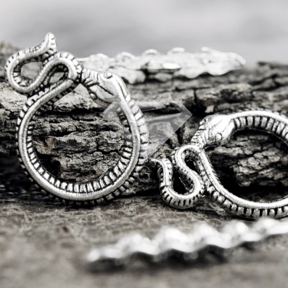 30Pcs Tibetan/Antique Silver Tone Snake Bar Ring Toggle Zinc Alloy Jewellry Making Findings Fit Bracelet Necklace TS0820