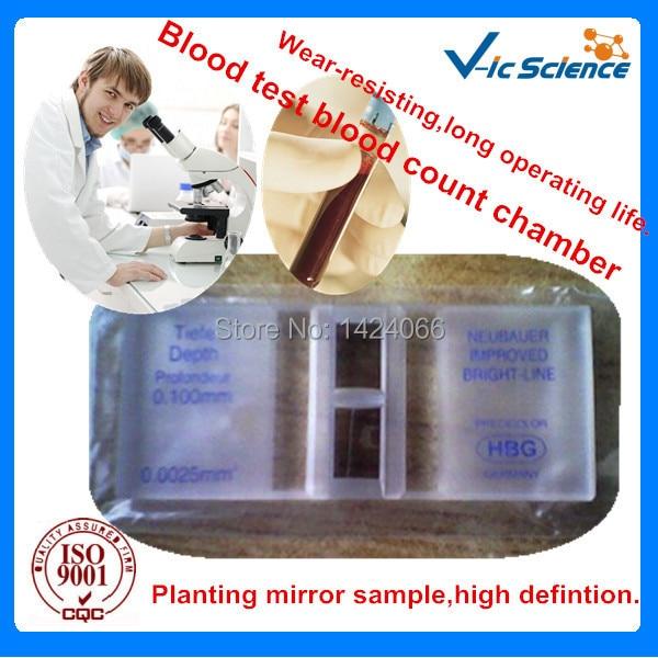 Kiváló minőségű vérszámláló kamra világos vonallal