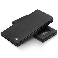 QIALINO Genuine Leather Case For Samsung Galaxy Note 8 Luxury Business Style Flip Stents Cover Bag