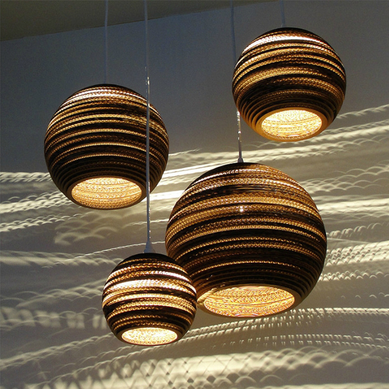 Creative Honeycomb Paper Led Pendant Lights Fixture Modern