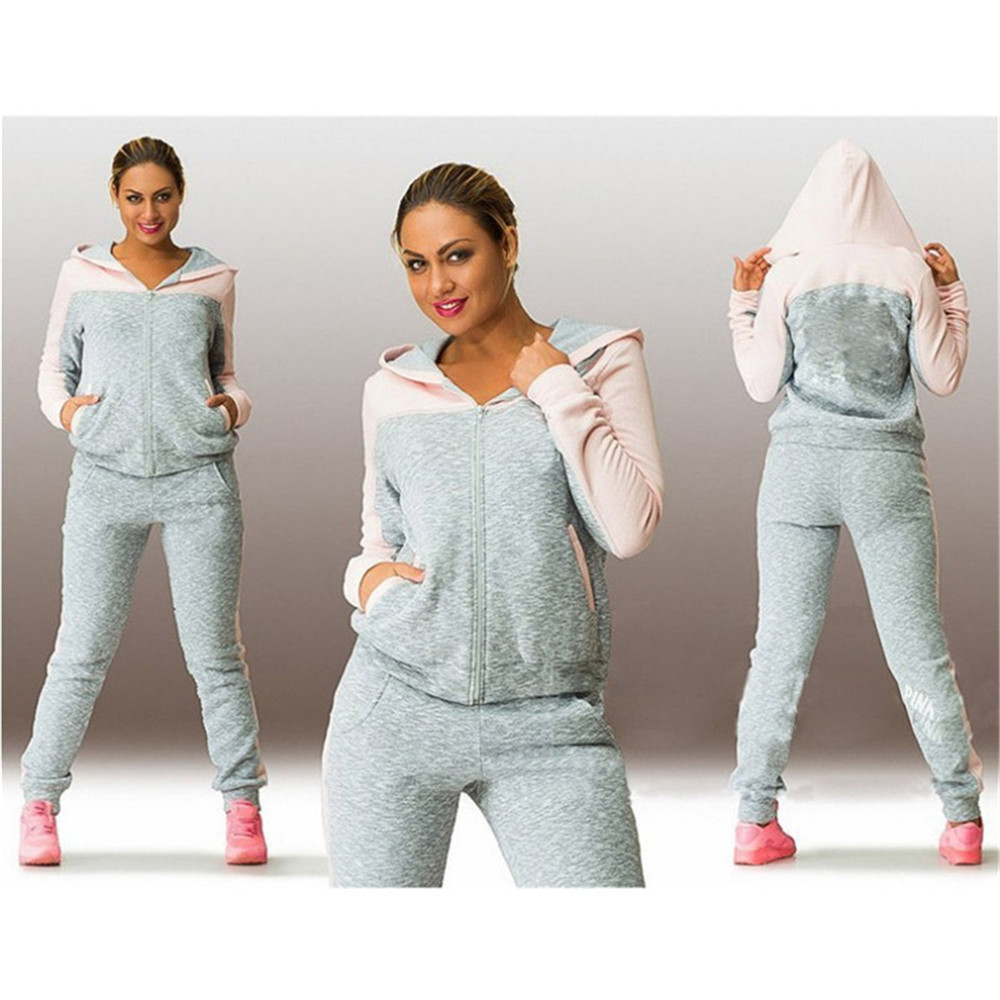 Hot Hooded Sweater Suit Set Tracksuits Women Clothes Sportswear Fitness Workout Set High Quality Women Clothing 4XL Dropshipping