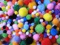 200 шт./упак. Смешанный Цвет Многоцветный Помпонами Помпонами Детский Сад DIY Искусства Ремесло Материалы для Творчества Детей Раннего Образовательные