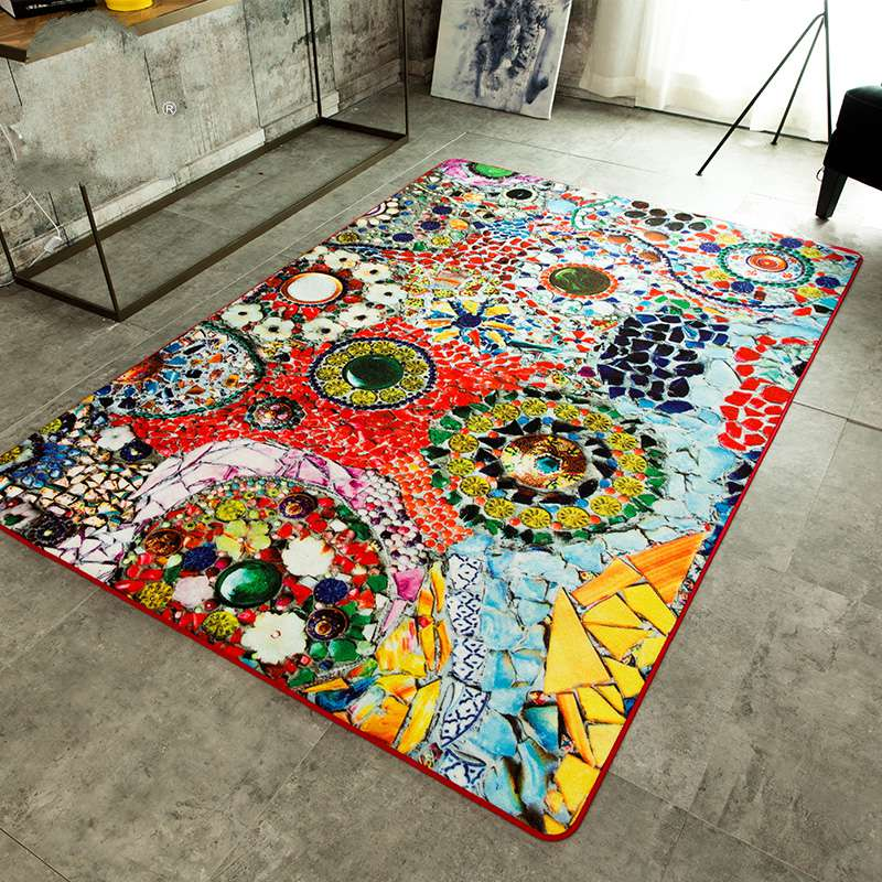 Kingart FashionTable Bed Coatroom Floor Mats Thick Floor Blanket Kid Bedroom Rug And Carpets
