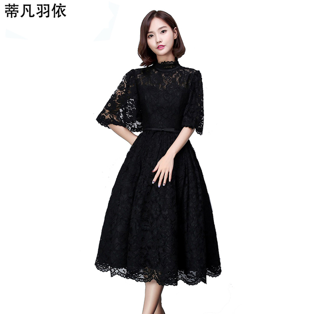 Woman Dress Prom Dresses 2018 New Arrival Medium Length Hollow out ...