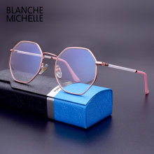 Blanche Michelle 2019 Fashion Glasses Frames Women Transparent Computer Frame Eyeglasses Optical With Box