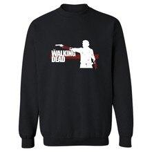 The Walking Dead Зомби Панк Толстовка Мужчины Черный Зима Осень Мужские Толстовки и Кофты Марка Костюм Белый 4XL(China (Mainland))